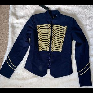 Diamond blue golden detailed blazer(New with Tag)